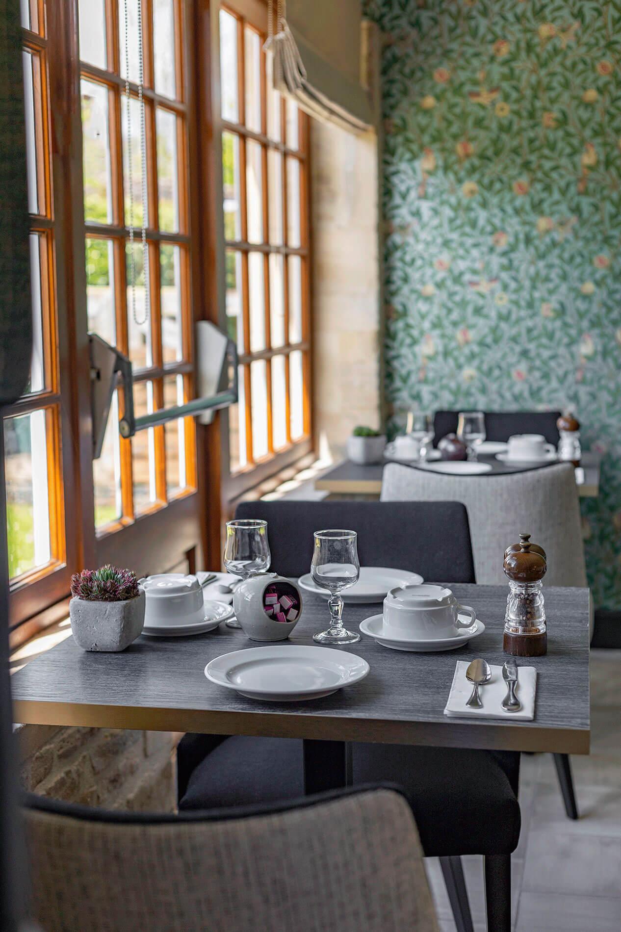 Table Petit déjeuner Le restaurant de la ranconnière